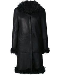 Abrigo de piel de oveja negro de Proenza Schouler