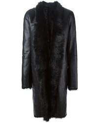 Abrigo de piel de oveja negro de Sly 010