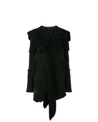 Abrigo de piel de oveja negro de Sylvie Schimmel