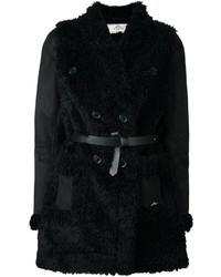 Abrigo de piel de oveja negro de Urban Code