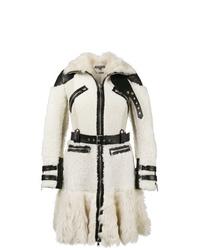 Abrigo de piel en beige de Alexander McQueen
