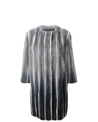 Abrigo de piel en gris oscuro de Fendi