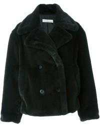 Abrigo de piel en gris oscuro de Golden Goose Deluxe Brand