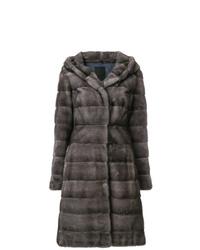 Abrigo de piel en gris oscuro de Liska
