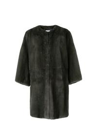 Abrigo de piel en gris oscuro de P.A.R.O.S.H.
