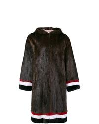 Abrigo de piel en marrón oscuro de Thom Browne