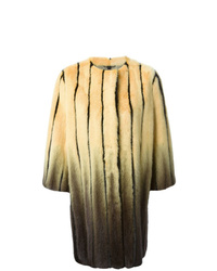 Abrigo de piel estampado amarillo de Fendi