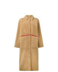 Abrigo de piel marrón claro de Inès & Marèchal