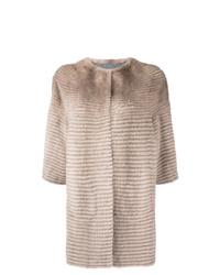 Abrigo de piel marrón claro de Liska