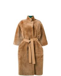 Abrigo de piel marrón claro de Rochas