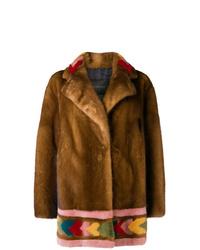 Abrigo de piel marrón de Blancha