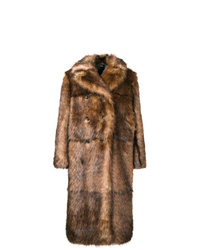 Abrigo de piel marrón de Kwaidan Editions