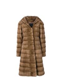 Abrigo de piel marrón de Liska