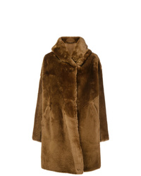 Abrigo de piel marrón de Sylvie Schimmel
