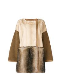 Abrigo de piel marrón de Yves Salomon