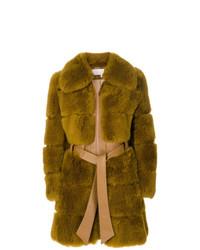 Abrigo de piel mostaza de Chloé