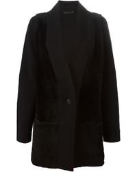 Abrigo de piel negro de Calvin Klein