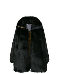 Abrigo de piel negro de Faith Connexion