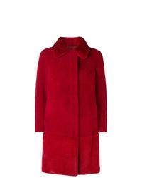 Abrigo de piel rojo de Blancha