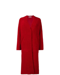 Abrigo de piel rojo de Inès & Marèchal