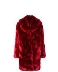Abrigo de piel rojo de La Seine & Moi