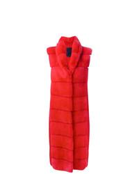 Abrigo de piel rojo de Liska