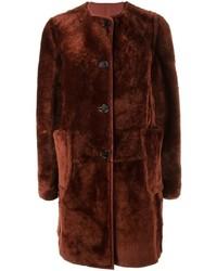 Abrigo de piel rojo de Marni