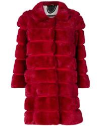 Abrigo de piel rojo de Simonetta Ravizza