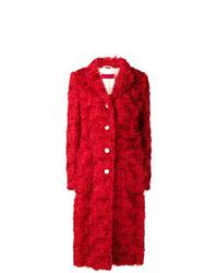 Abrigo de piel rojo de The Gigi