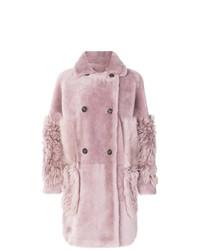 Abrigo de piel rosado de Desa 1972