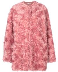 Abrigo de piel rosado de Stella McCartney