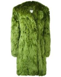 Abrigo de piel verde oliva de Maison Margiela