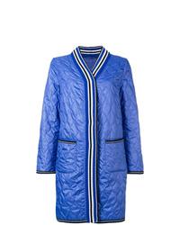 Abrigo de plumón acolchado azul de Ermanno Scervino