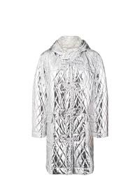 Abrigo de plumón acolchado plateado de MM6 MAISON MARGIELA