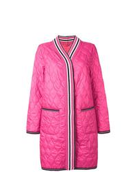 Abrigo de plumón acolchado rosa de Ermanno Scervino
