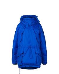 Abrigo de plumón azul de Maison Margiela