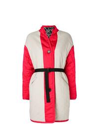 Abrigo de Plumón Blanco y Rojo de Isabel Marant Etoile