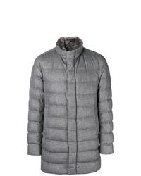 Abrigo de plumón gris de Herno