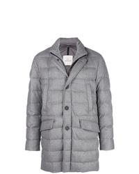 Abrigo de plumón gris de Moncler