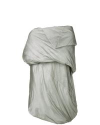 Abrigo de plumón gris de Rick Owens DRKSHDW