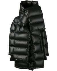 Abrigo de plumón negro de Balenciaga