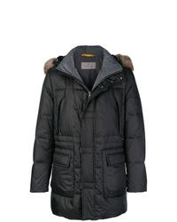 Abrigo de plumón negro de Canali
