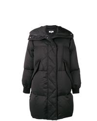 Abrigo de plumón negro de MM6 MAISON MARGIELA