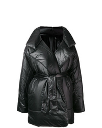 Abrigo de plumón negro de Norma Kamali