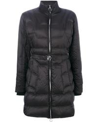 Abrigo de plumón negro de Versace
