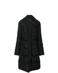 Abrigo de plumón negro de Versace Vintage