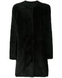Abrigo de Plumón Negro de Yves Salomon