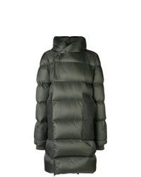 Abrigo de plumón verde oscuro