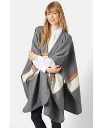 Abrigo de rayas horizontales gris