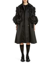 Abrigo de seda negro